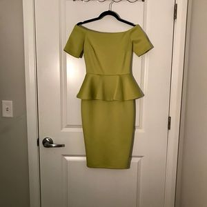 Elegant and sexy off the shoulder pencil dress